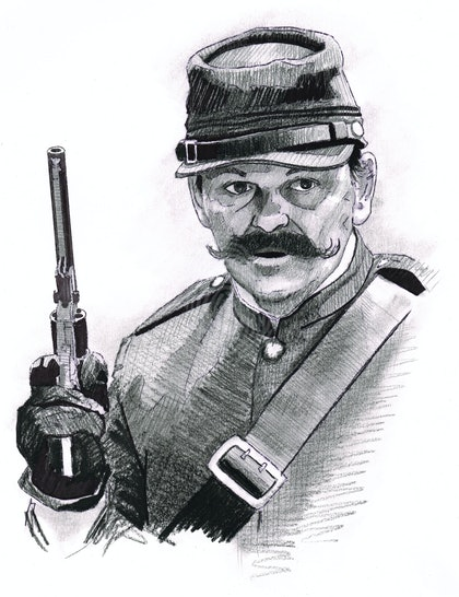 """""""SGT. CONDELL"""" Gregory Quinn - (first draft) character illustration for """"The Legend of Ben Hall"""" film credits"""