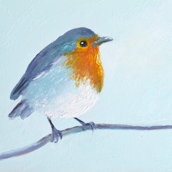 Robin bird jan matson bluethumb art