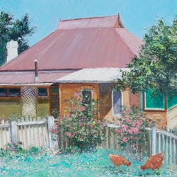 Captains flat cottage new south wales jan matson bluethumb art