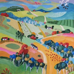 Autumn day 2 susan trudinger bluethumb art
