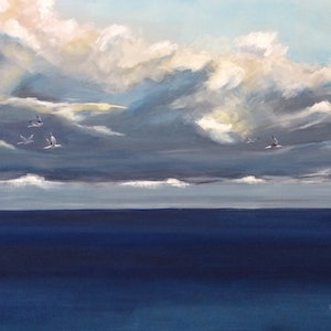 Storm on the way ron brown bluethumb art