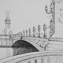 Pont d alexandre 3 over the river seine paris dai wynn bluethumb art
