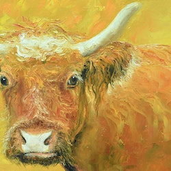 Red cow with horns jan matson bluethumb art add3