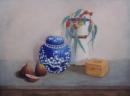 'Figs and ginger jar'