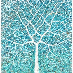 Deciduous tree beach blues miranda lloyd bluethumb art