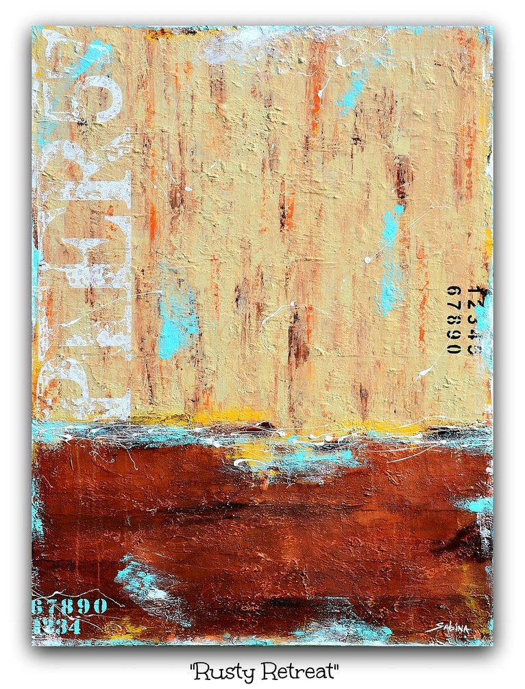 """Rusty Retreat""  (abstract landscape)"