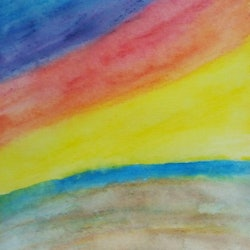 Abstract sunset 2 isabelle caille bluethumb art