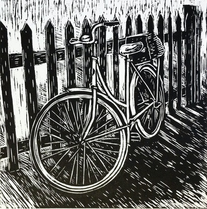 Bike against a fence Ed. 8 of 15