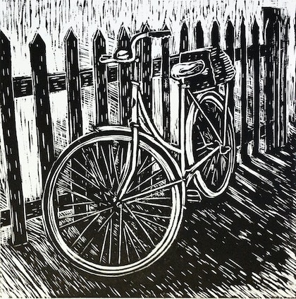 Bike against a fence Ed. 43 of 50
