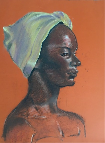 The Yellow Head Scarf