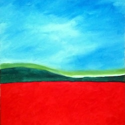 Red fields isabelle caille bluethumb art