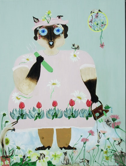 MRS  DALRYMPLE  LIKES  TO  GROW  FLOWERS.  Scandi Fun with a Siamese Cat
