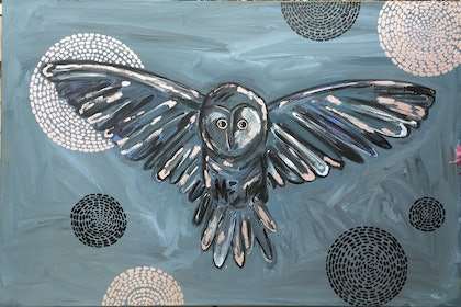 Owl with 7 moons