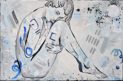 BLACK  AND  BLUE  urban nude.