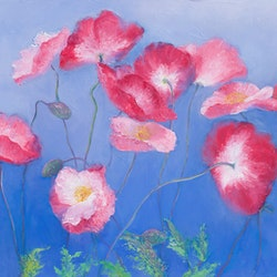 Pink poppies jan matson bluethumb art 90cf