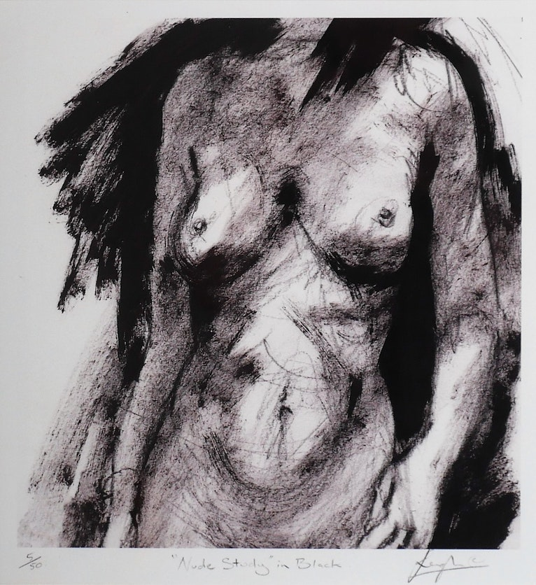 Nude Study in Black, print 5/50