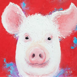 Happy pig jan matson bluethumb art 2cb3
