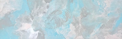 "ORIGINAL ABSTRACT ART PAINTING ON STRETCHED CANVAS  ""PASTEL MAGIC""  SOFT PINK LIGHT TURQUOISE GREY AND WHITE"
