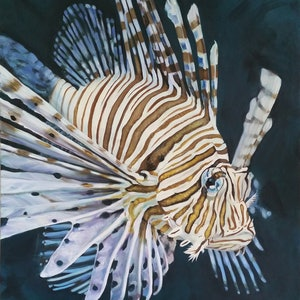 Allure lionfish limited edition art print naomi veitch bluethumb art 64c8