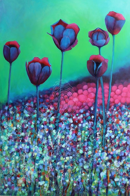 Black Tulips - Limited Edition Print Signed and Numbered 2/100 Professional Giclee Print A2 (420mm x 597mm) - Copy
