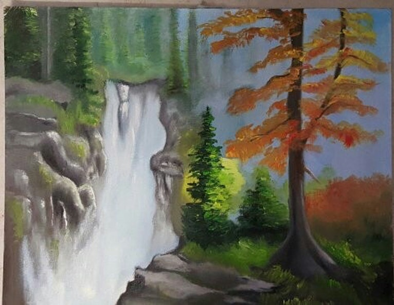 natural painting oil colours on canvas size 40×40cm