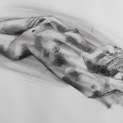 Recumbent nude copy de gillett bluethumb art 4dd1