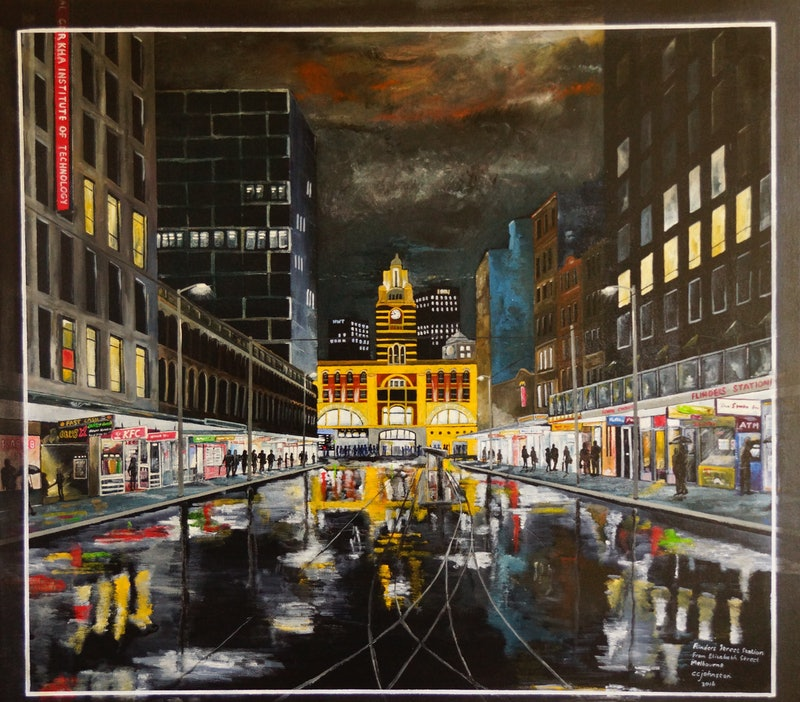 Flinders Street Station from Elizabeth Street, Melbourne