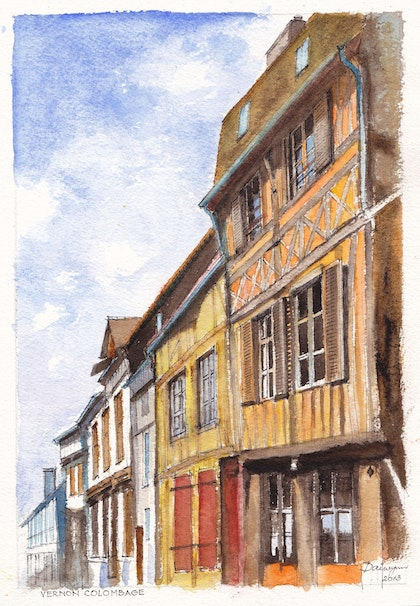 Colombage in Vernon, near Giverny, France