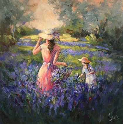 At the lavender field