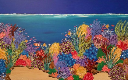 Underwater World on Gallery quality Canvas