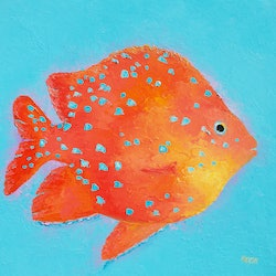 Orange tropical fish jan matson bluethumb art 092a