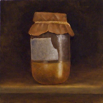 Still Life Sketch with Glass Jar