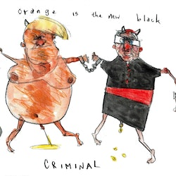 Trumptoons orange is the new black john graham bluethumb art cb6f