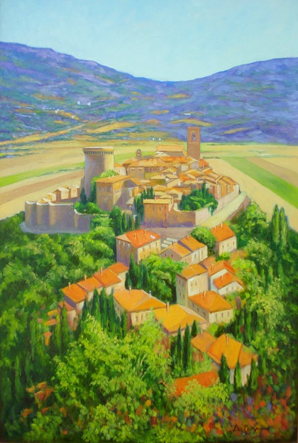 Gualdo Cattaneo Fortified Village Italy