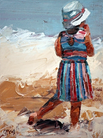 Day At The Beach II - Limited Edition Giclee Art Print 7/100