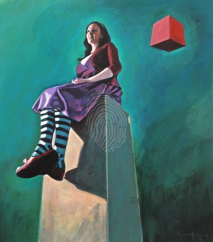 Red Box Series: The Tower (painting study)