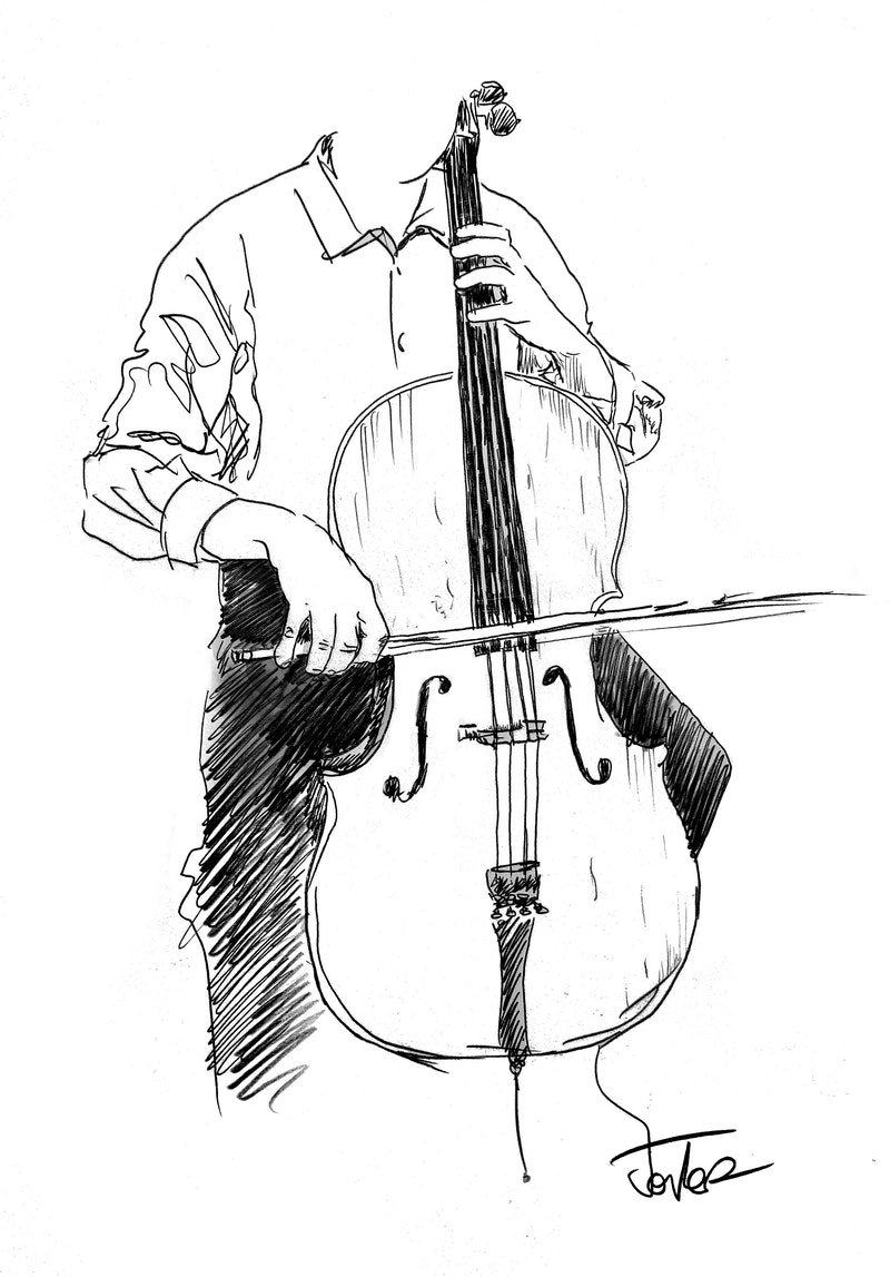 STUDY OF A CELLIST