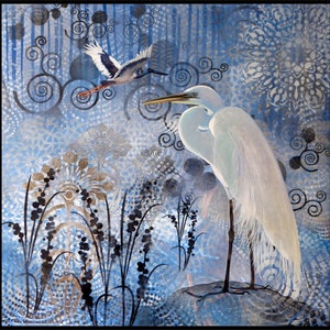 Sheer elegance great egret susan skuse bluethumb art 6442