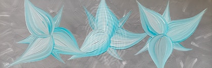 "ORIGINAL ABSTRACT ART PAINTING ON STRETCHED CANVAS  ""LILY LOVE TEAL""  LATTE BROWN CREAM TEAL"