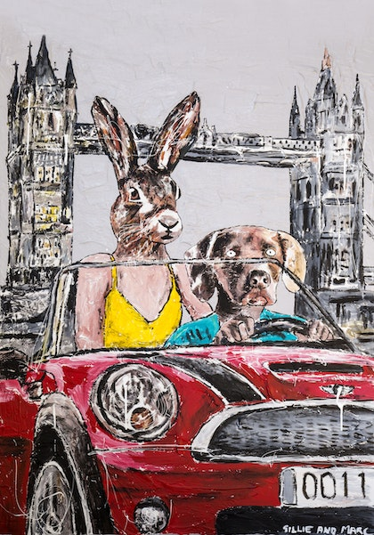 They always loved driving together in London