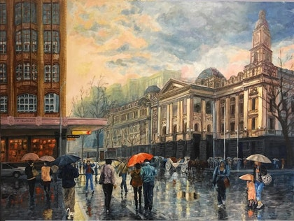 Clearing Winter Showers - Melbourne Town Hall