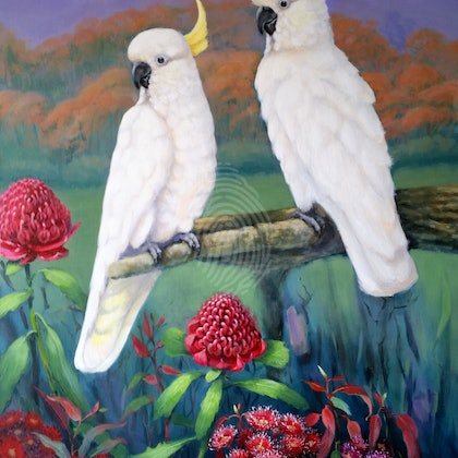 AUSTRALIANA  #1 . Original painting. Painted as a part of a triptych.