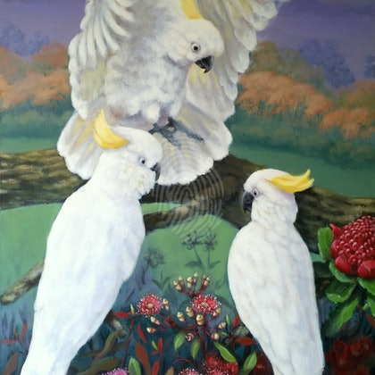 AUSTRALIANA #2 . Original painting. Painted as a part of a triptych.