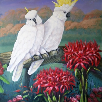 AUSTRALIANA #3 . Original painting. Painted as a part of a triptych.