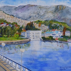 Kunanyi mount wellington from wrest point christopher johnston bluethumb art 4da5
