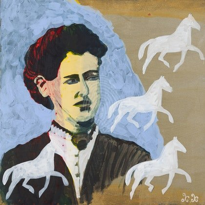 Kate Kelly Portrait with Horses