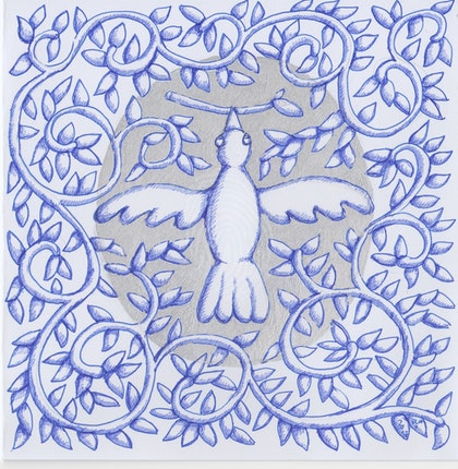 White Bird Square July 2017 card