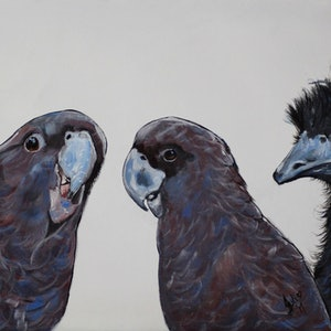 Psst eric there s something not quite right with the new guy julie hollis bluethumb art e2b6