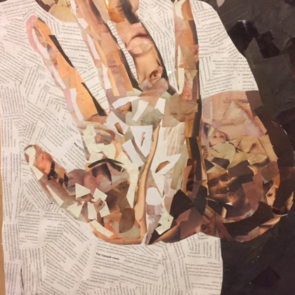 Tonal Collage of Left Hand