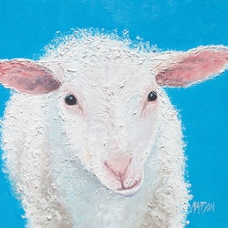 Ollie the sheep jan matson bluethumb art 7c41